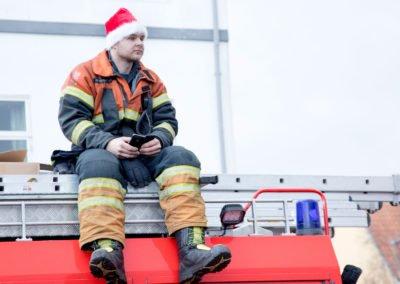 Redningsmand med julehue